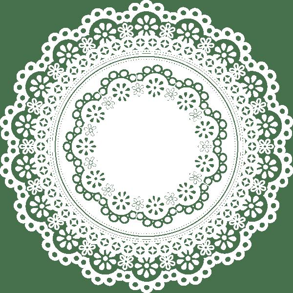 装飾 レース円カラー 無料イラストpowerpointテンプレート