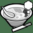 食品 ラーメン(モノクロ)