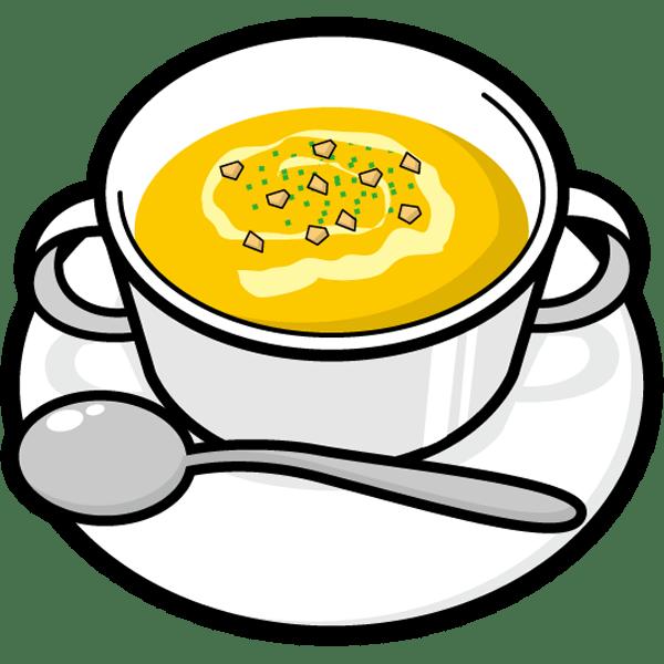 食品 スープ(コーンポタージュ)(カラー)