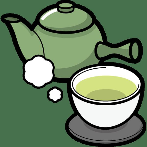 食品 緑茶(急須)(カラー)