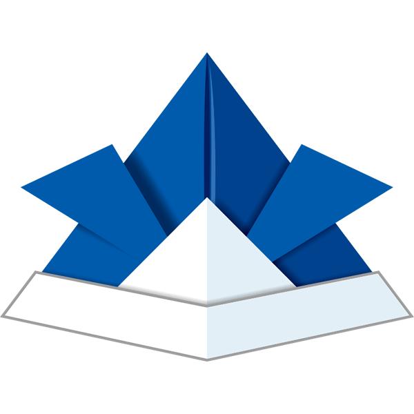 折り紙 兜ブルー 無料イラストpowerpointテンプレート配布サイト