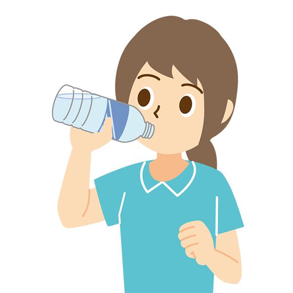 水分補給 女性 無料イラスト・PowerPointテンプレート配布サイト【素材工場】