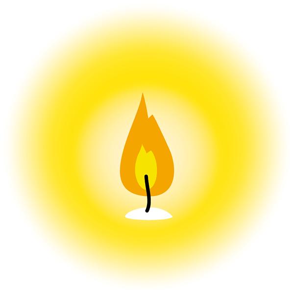 キャンドルの炎 無料イラストpowerpointテンプレート配布サイト
