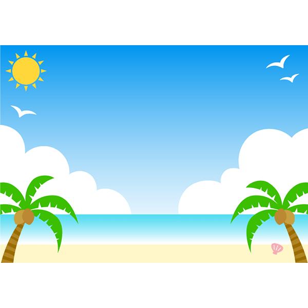 背景画像 ビーチ 海 無料イラストpowerpointテンプレート配布サイト