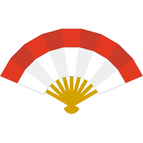 紅白扇子 センス 無料イラストpowerpointテンプレート配布サイト