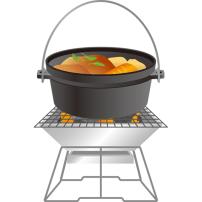 ダッチオーブン 焚き火台 料理入り