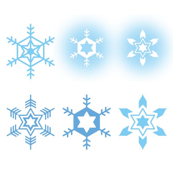 雪の結晶セット 無料イラストpowerpointテンプレート配布サイト