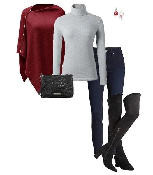 Botas hasta el muslo y jeans |  40plusstyle.com