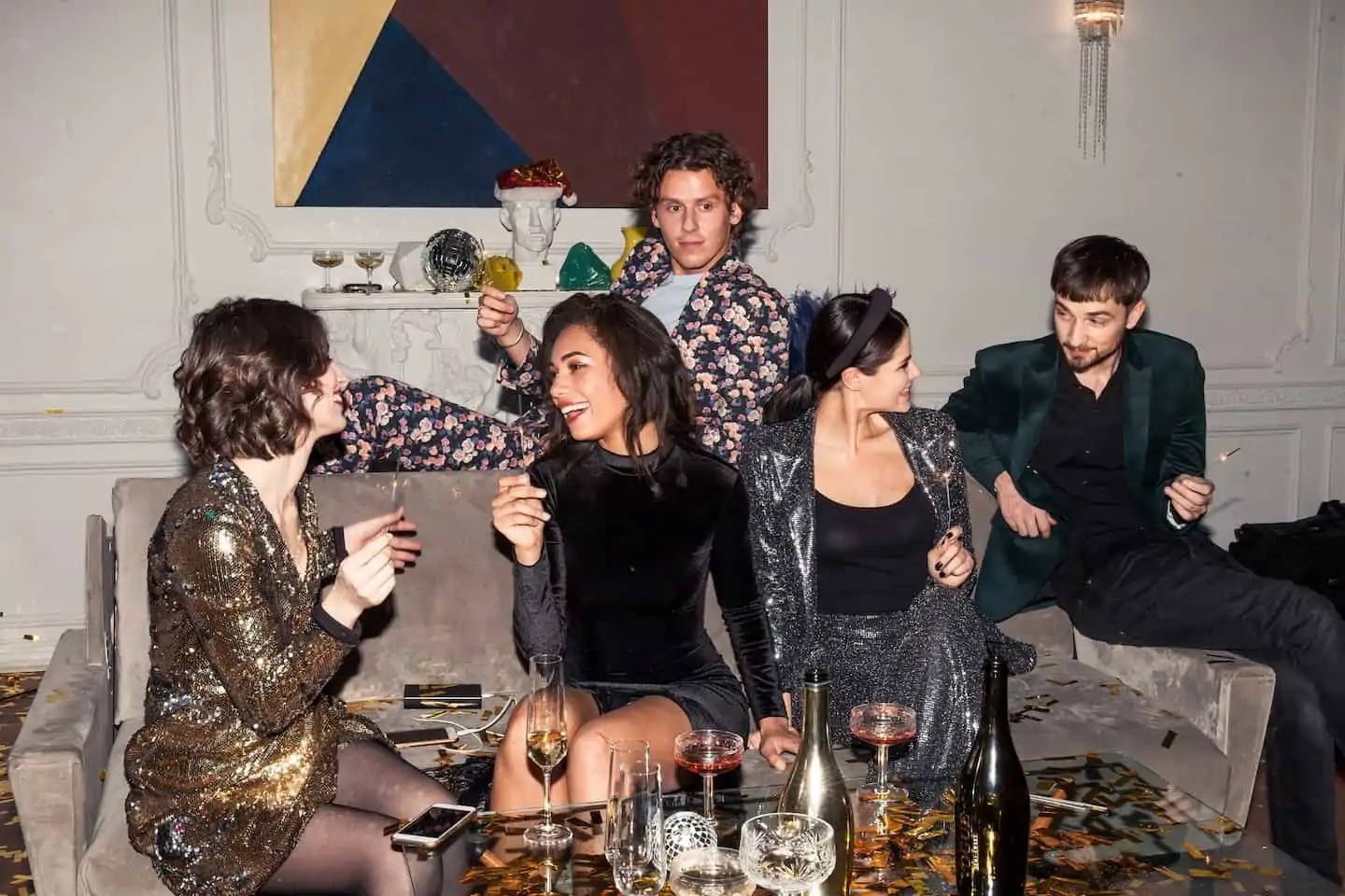 how to dress well for different settings with men and women at a disco party