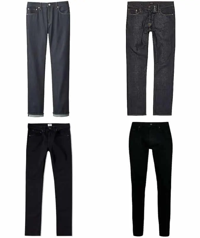 the best dark jeans styles for men