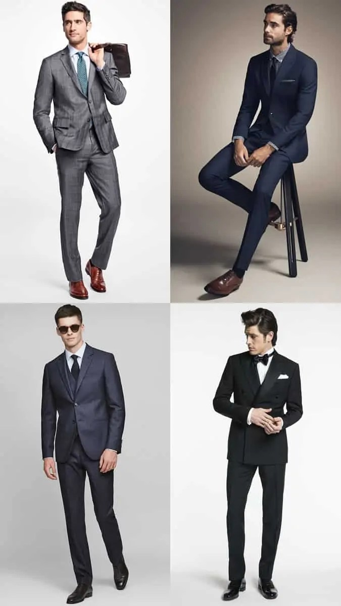 How to wear Oxford Shoes with a suit or tuxedo