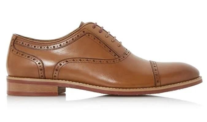 Toe Cap Punch Hole Oxford Shoe