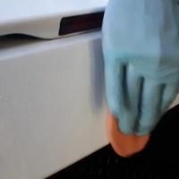 Decontamination barre d'argile sur lambo