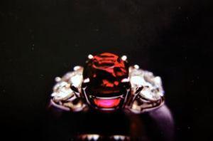 モゴック産非加熱ルビーの指輪完成です。