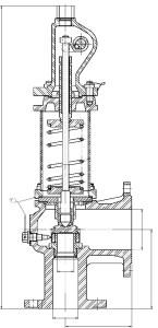 Клапаны предохранительные СППК чертеж