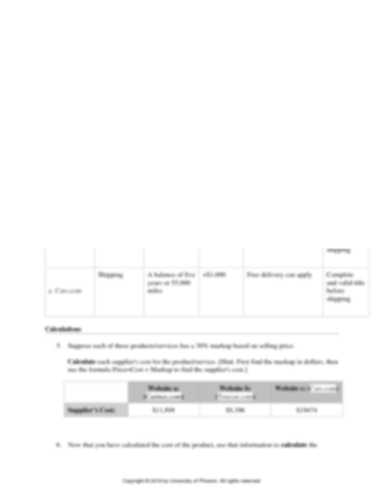 Solution Comparison Shopping Worksheet