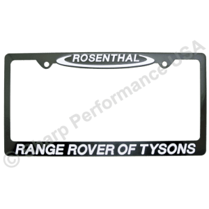 BLACK STAINLESS STEEL License Plate Frames