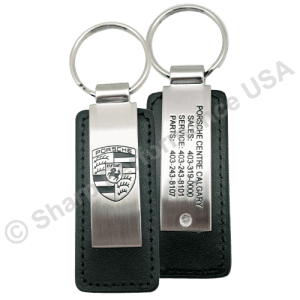 Premium Leather & Metal Rectangle Key Chains