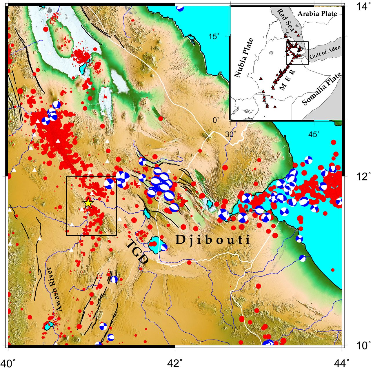 Seismicity Of The Central Afar Rift And Implications For