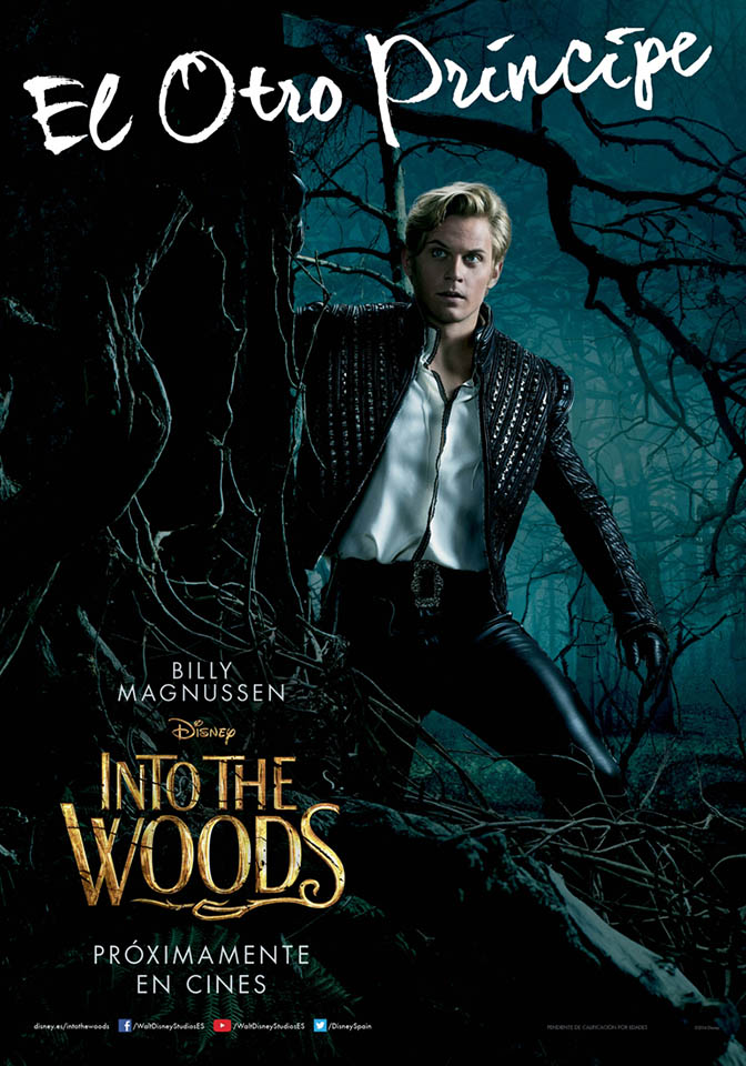 Cartel personaje Billy Magnussen en Into the Woods