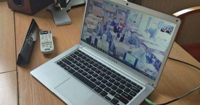 Wideokonferencja z przyjaciółmi z Ukrainy