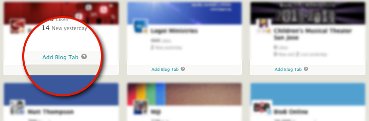 Add your Blog as a Tab on facebook business page