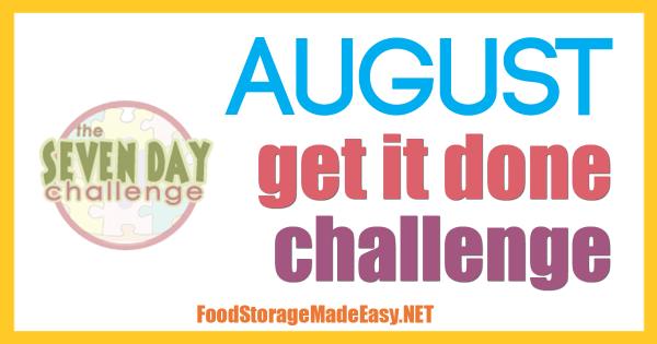 "August ""Get It Done"" Challenge"