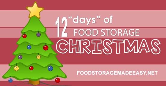 12 Days of Food Storage Christmas