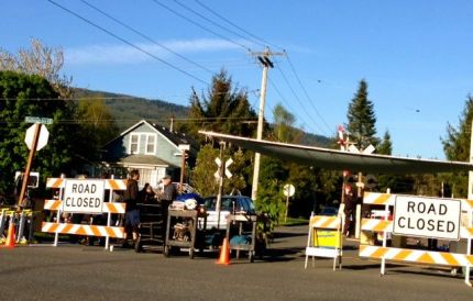 Commercial filming in downtown Snoqualmie, May 3, 2013