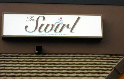 The Swirl's new sign designed by North Bend's Replicator Graphics