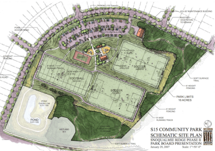 Drawing of new Jeanne Hansen Community Park.