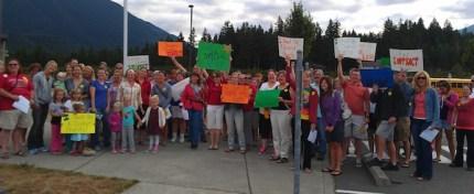 SVEA teacher rally at Twin Falls Middle School, August 23, 2013