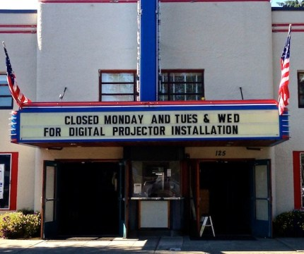 North Bend Theatre closed for 3 days to install the new projector