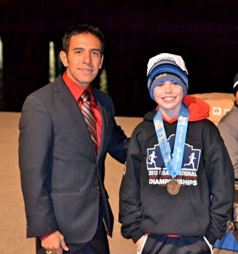 JOe Waskom with Leo Manzano, 1500 meter silver medalist at the 2012 London Olympics.