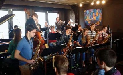 Mt Si Jazz Band at Boxleys, 1/25/14.  Photo:  Boxleys Facebook page