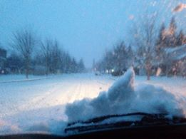 Streets in Si View area of North Bend at 7:15AM