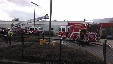 Mount Si HS Fire, 3/20/14. Photo: EF&R Facebook page