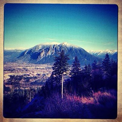 Mt Si from Snoqualmie Point Park, 2/7/14. Photo by Shoshanna Scheffer