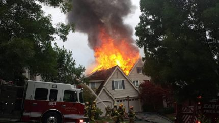 Snoqualmie house fire on Fairway Ave, 7/4/14