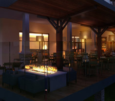Rendering of new outdoor eating area.