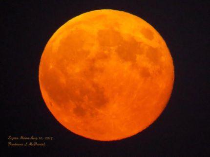 8/10/14 super moon by Barb McDaniel