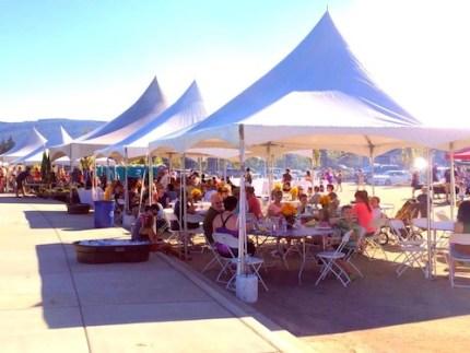 Crowds showed up for the grand opening celebration for Jeanne Hansen Park on September 6, 2014.