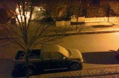 Snow on SE Kinsey Street in Snoqualmie. Pic by Karola King
