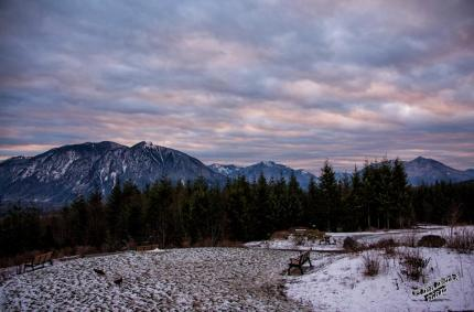 Sunrise from Snoqualmie Point Park, December 2014. Photo by Don Detrick.