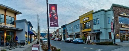 Center Blvd on Snoqualmie Ridge.  Photo: Snoqualmie Valley Chamber of Commerce.
