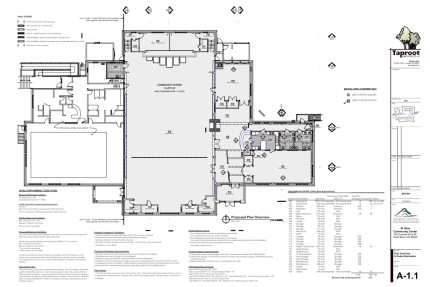 Floor plan of the remodeled Si View Community Center.  The 4-month project will be complete in June 2015.