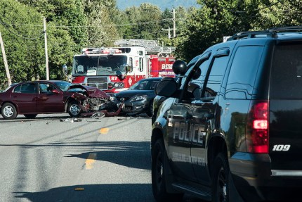 Accident at SR 202 and Boalch Ave near North Bend, 6/17/15.  Photo: Danny Raphael