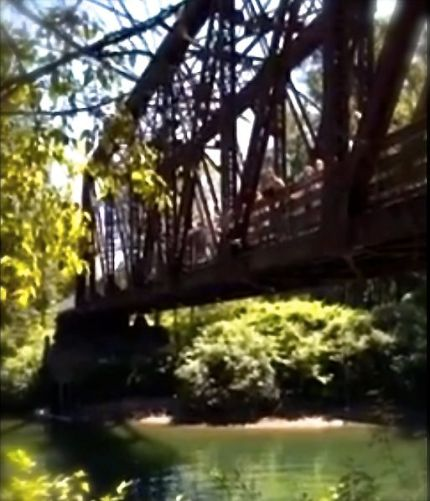 Bridge over the Snoqualmie River, popular with teenage river jumpers.