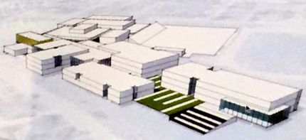 Rendering of conceptual design for re-built MSHS.