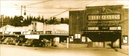 The Brook Theater, opened in 1923 in the town of Meadowbrook. Photo: screenshot Snoqualmie Valley Historical Museum magazine
